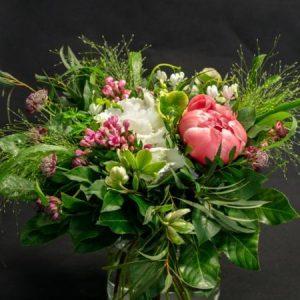 Hortensiakimppu punainen